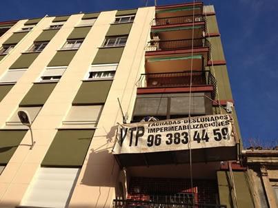 Tratamiento de fachadas :Reparación y pintura de fachada en Fuente de San Luis, Valencia