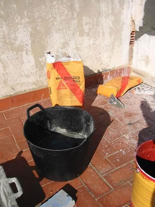 Utilización de Sika Monotop para reparación de grietas