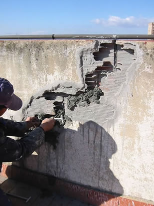 Reparación de grietas en edificio