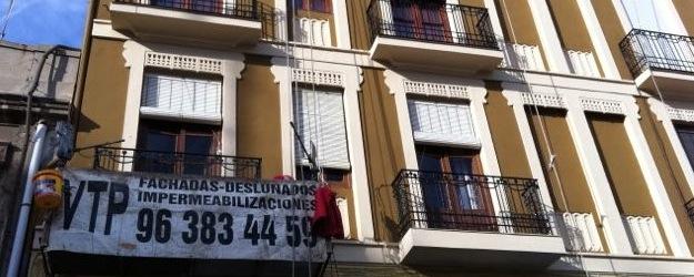 Reparación de fachada en Valencia, Malvarrosa