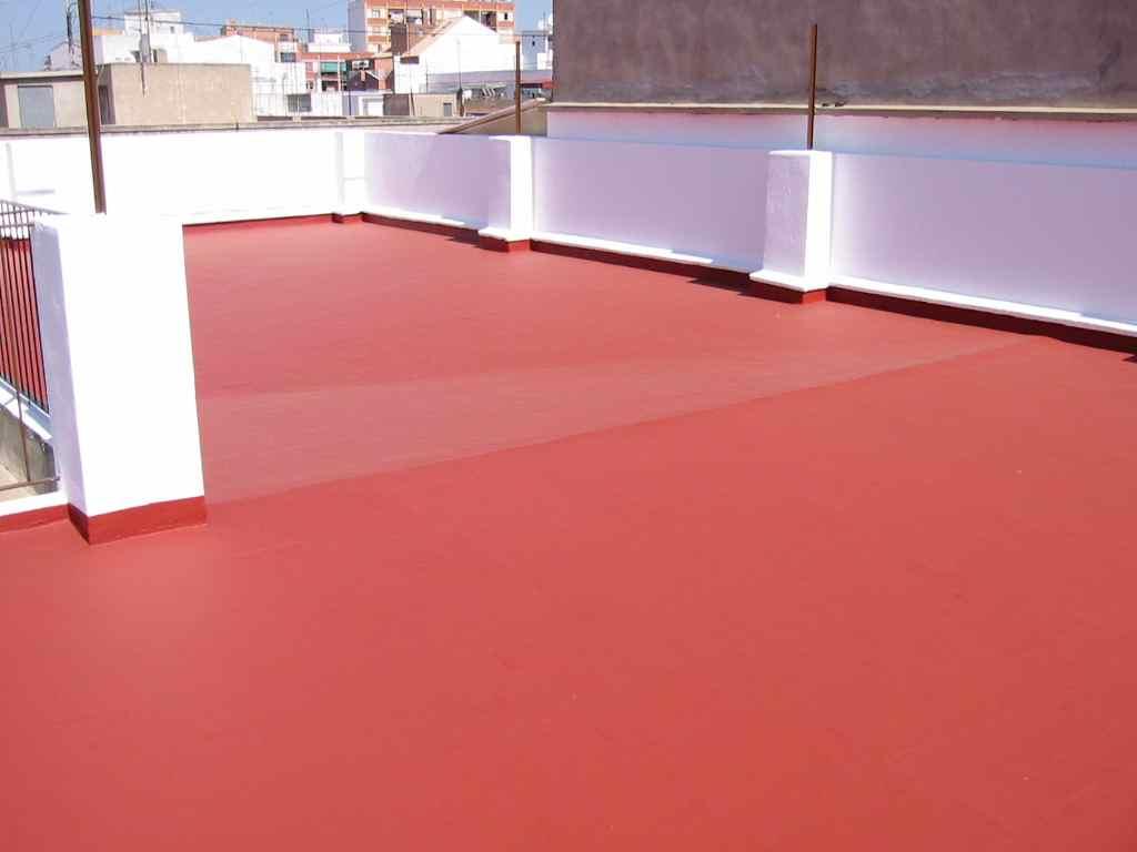 Suelo de terraza impermeabilizado