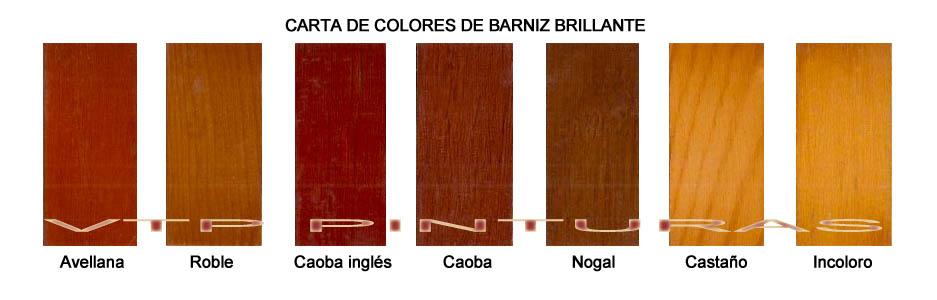 Carta de colores de barniz para exteriores